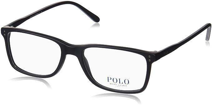 a51dc9d91f98 Amazon.com: Polo Men's PH2155 Eyeglasses Matte Black 54mm: Clothing