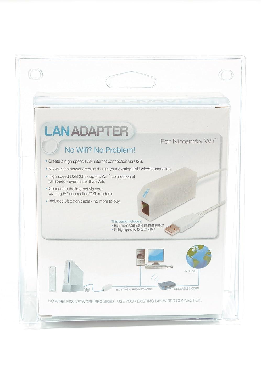 Wii & Wii U LAN Internet Adapter via USB (WiiU kompatibel): Amazon ...