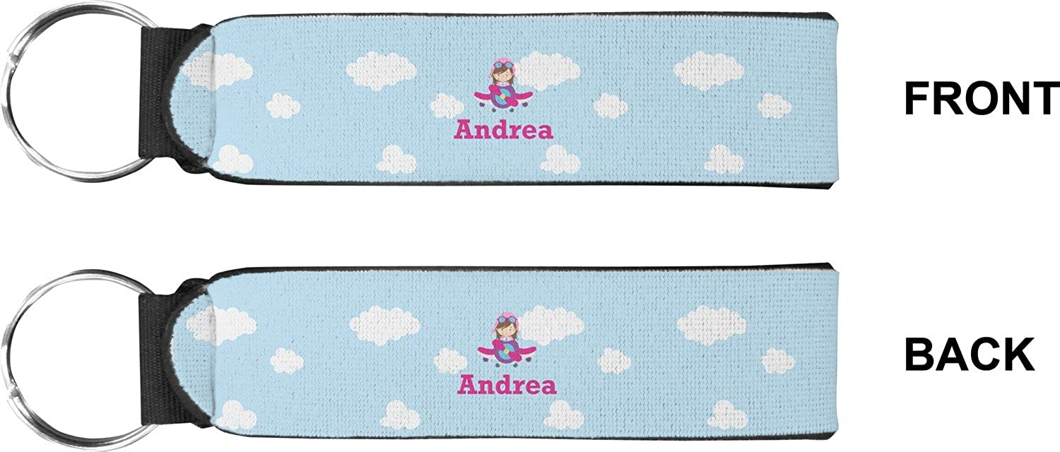 Airplane & Girl Pilot Keychain Fob (Personalized)