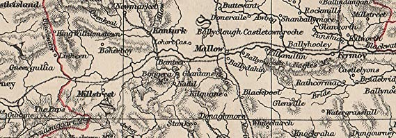 MUNSTER JOHNSTON 1900 map Clare Cork Kerry Limerick Waterford /&c.SW Ireland