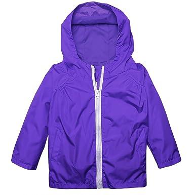 a0a54cadb17 Amazon.com  bulges Raincoat Girls 6 Kids Waterproof Jacket with Hood ...