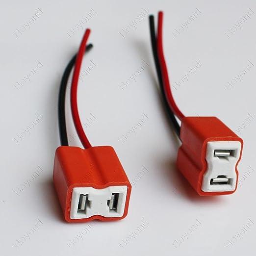 Car Trucks H7 Female Ceramic Headlight Fog Light Connector Plug Adapter Socket