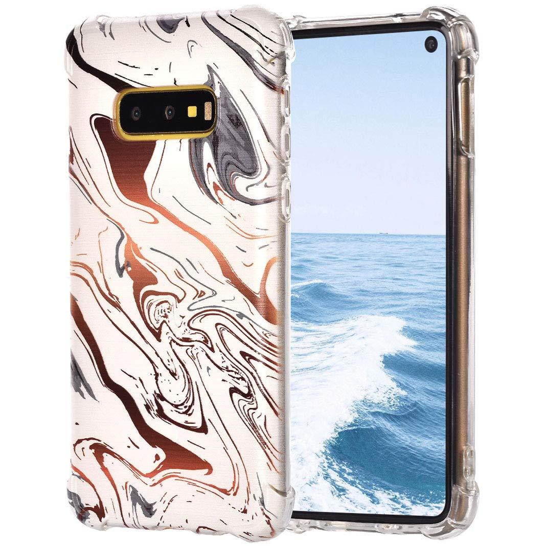 TPU Étui pour For Samsung Galaxy S10E, Impression Peint Durable Imperméable Anti-Rayures Dünn Protecteur de Pare-Chocs de Silicium Transparent pour For Samsung Galaxy S10E, Style 8