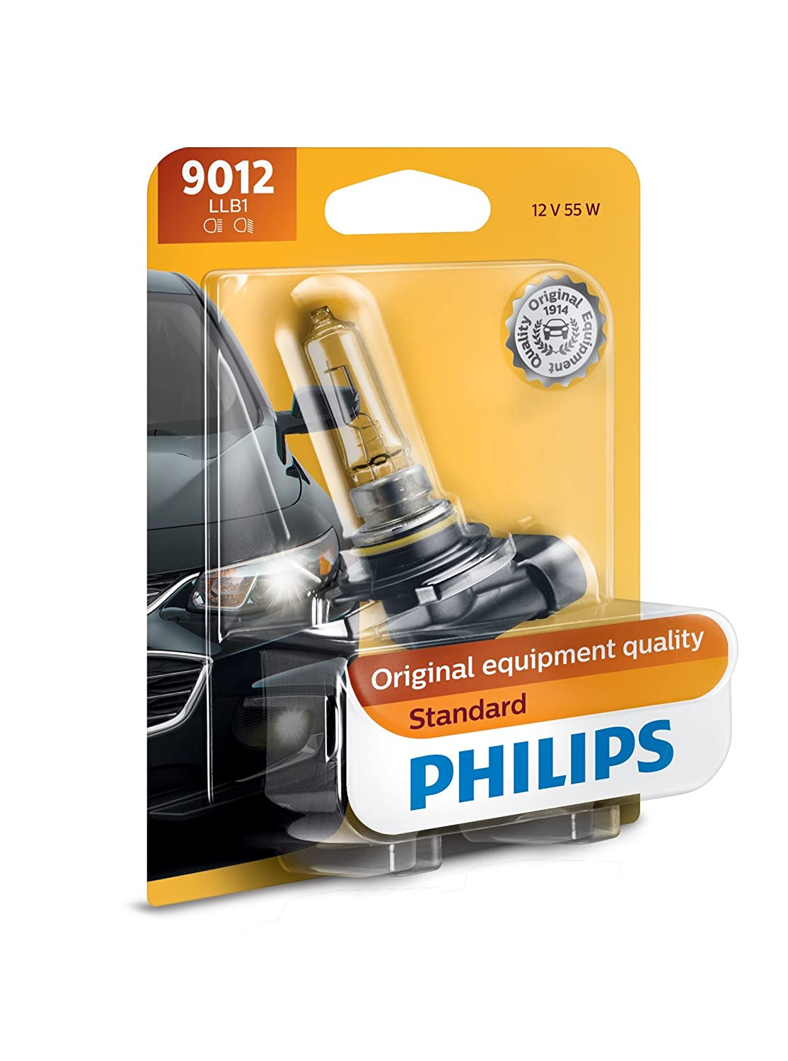 Philips 9012LLB1 Standard Halogen Headlight Bulb, Pack of 1