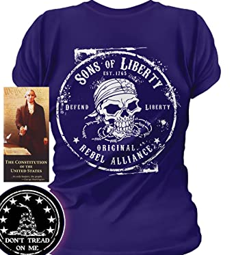 0834f362d Image Unavailable. Image not available for. Color: Sons of Libery Original  Rebel Alliance Wom Purple/2XL T-Shirt