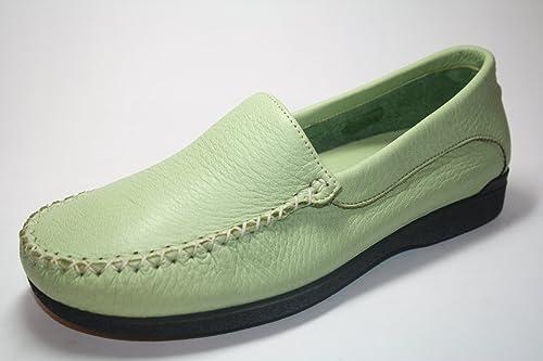 Highlander - Mocasines de cuero para mujer verde verde lima 36.5: Amazon.es: Zapatos y complementos