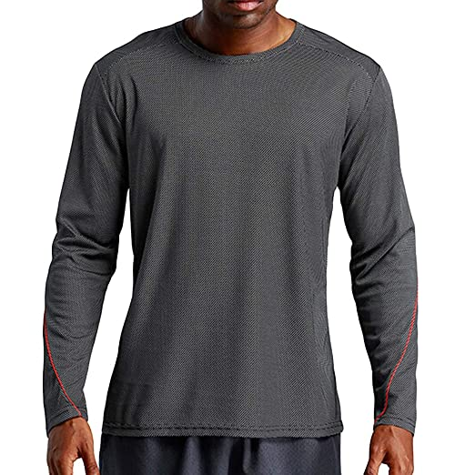 083cc751d79a Amazon.com: iMakcc Mens Long Sleeve T-Shirts Quick Dry Sports Tops Running  Training Tee Workout Activewear: Clothing