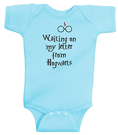 09019b300ed Waiting On My Letter From Hogwarts Funny Harry Potter Romper Wizard Onesie  by BeeGeeTees (18