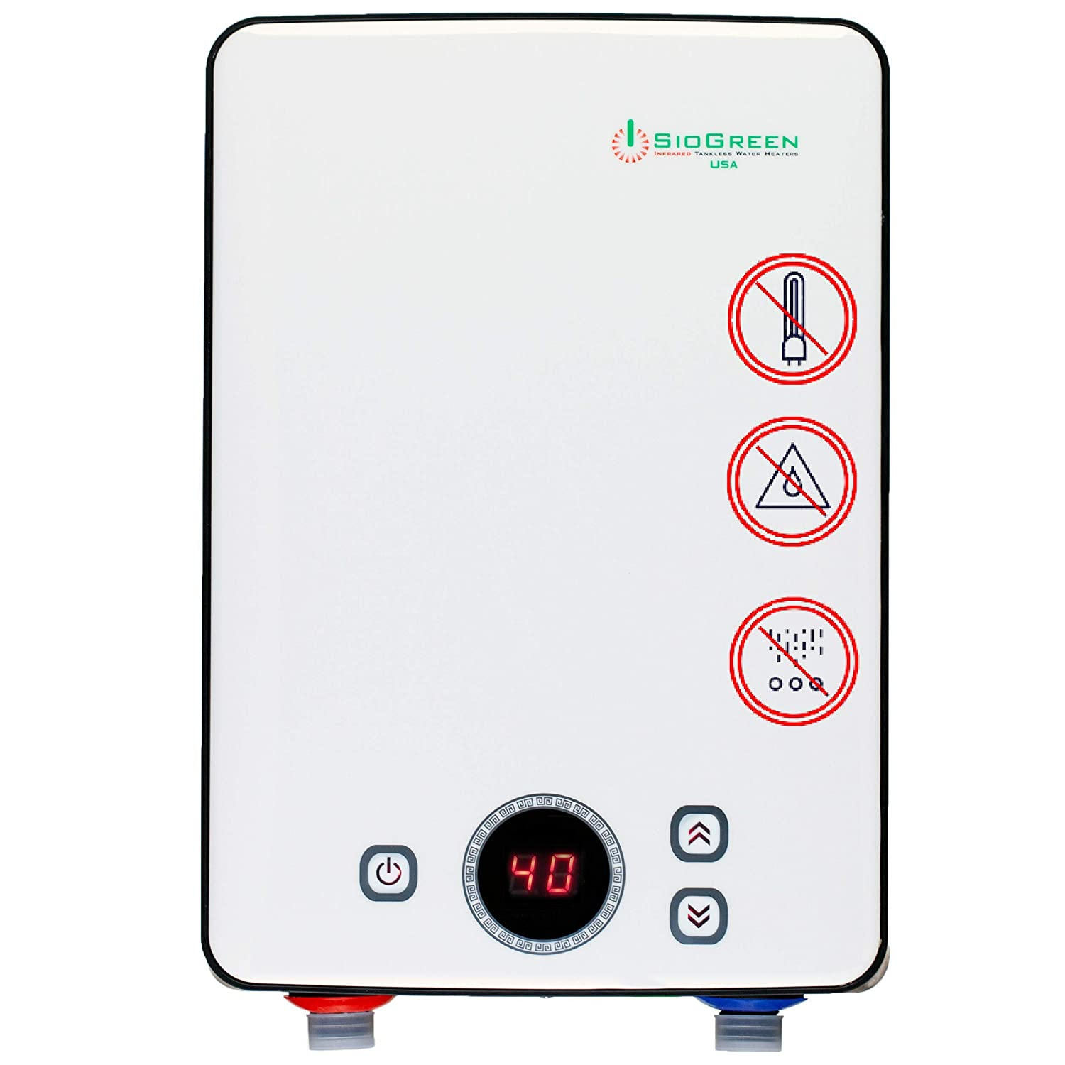 Sio Green Ir30 Pou Electric Tankless Water Heater Infrared Tank Wiring Zones Bathroom Less Instant Hot Cost Effective Corrosion Free No Lime Scale Algae
