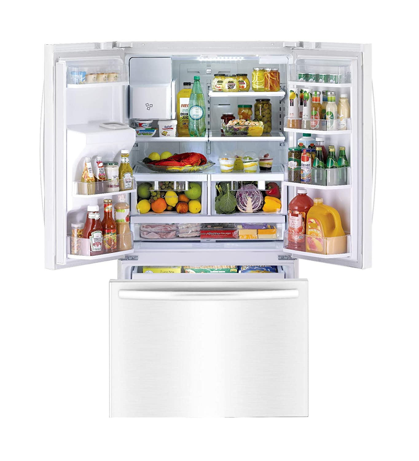 includes delivery and hookup White Daewoo RFS-26DWCE French Door Refrigerator
