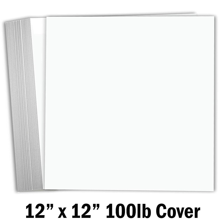 Hamilco ホワイトカード用紙 スクラップブック用紙 12×12インチ 重量100ポンド カバーカード用紙 25枚パック B07PJDXRD5