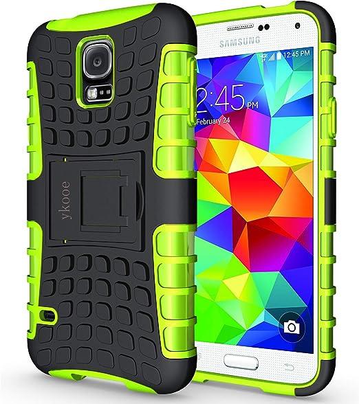 ykooe Funda Samsung Galaxy S5, Teléfono Híbrida de Doble Capa con ...