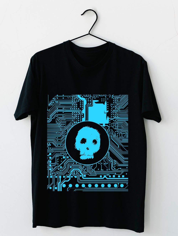 Blue Blurry Skull Cybergoth 73 T Shirt For Unisex