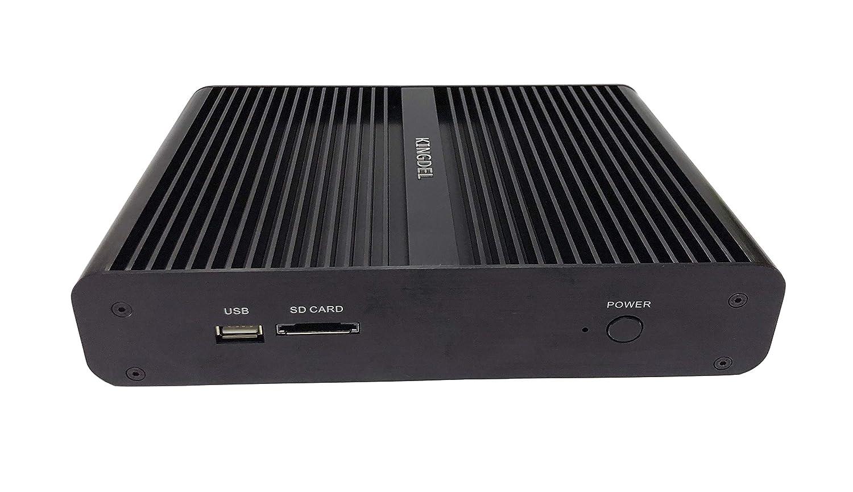 Kingdel® NC860 Fanless mini PC, ordenador de sobremesa estrecho, procesador Intel i7-8550u 8ème generación 4 Núcleos, 16Go DDR4 RAM, 512Go SSD, 4K 4096x2304 ...