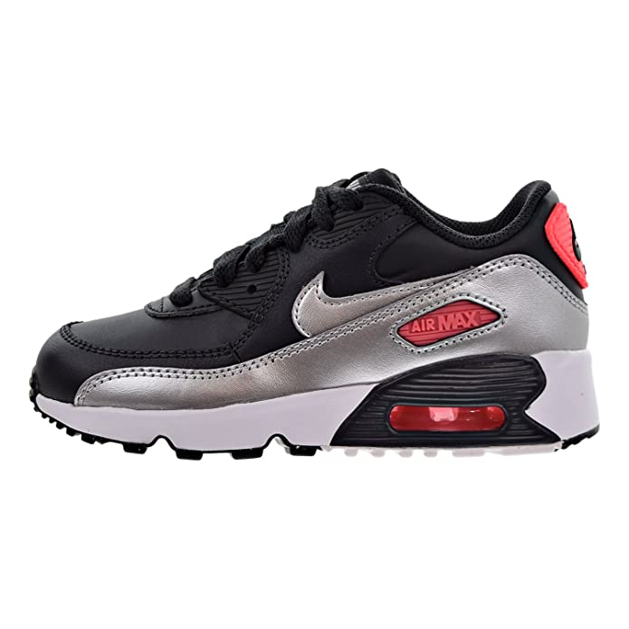 7a74d42ceab1 Nike Air Max 90 Leather Little Kids (PS) Shoes Anthracite Metallic Silver  833377-009
