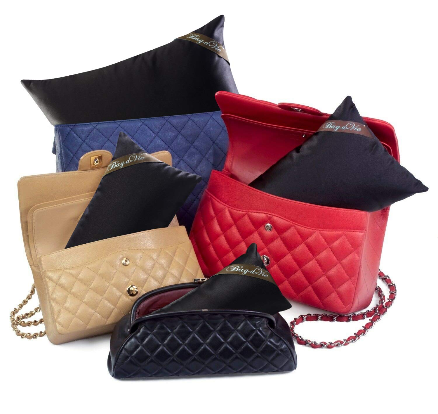 Bag-a-Vie Handbag Purse Shaper Pillows [4-Pack] Made to fit Chanel, Hermes & More by Bag-a-Vie
