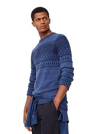 5179c3d0aea0 MANGO MAN - Flecked jacquard sweater - Size XXL - Color Navy  Amazon ...