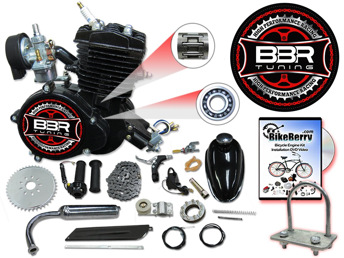 Amazon.com: BBR Tuning 66/80cc Black Motorized Bicycle Kit – 2 Stroke Gas  Powered Bike Motor Engine: Automotive