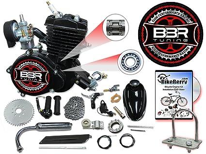 amazon com bbr tuning 66 80cc black motorized bicycle kit 2 rh amazon com