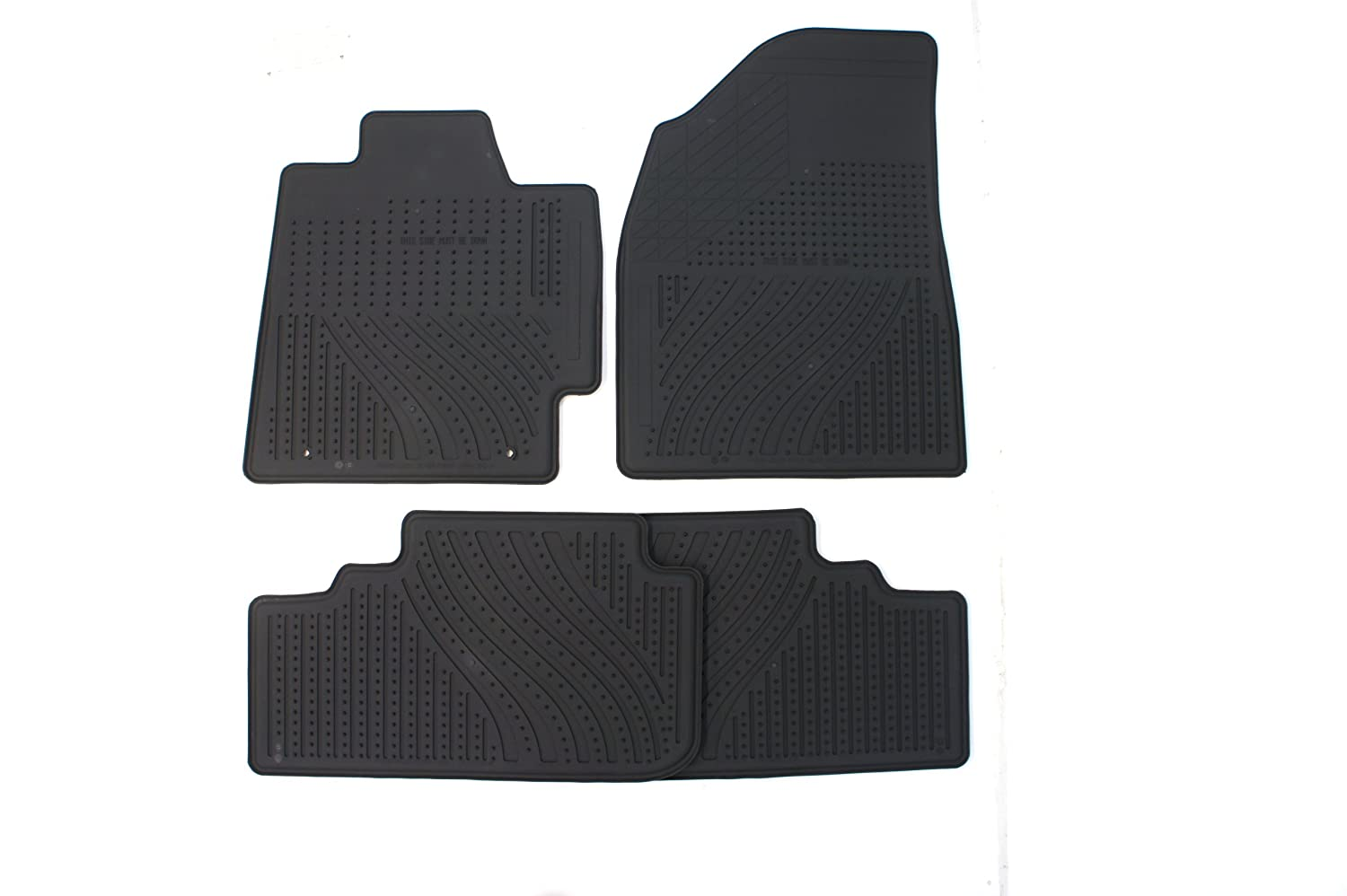 Black Genuine Toyota Accessories PT908-48G00-02 Front and Rear All-Weather Floor Mat - Set of 4