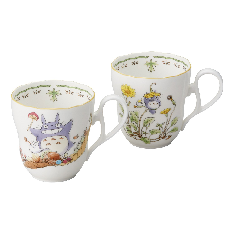 Amazon.com | Noritake X Studio Ghibli Neighbor Totoro Pair Mug Cup  TP97855-4924-37: Coffee Cups u0026 Mugs
