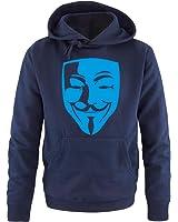 Comedy Shirts - Anonymous Maske - Herren Hoodie Gr. S bis XXL Diverse Farben