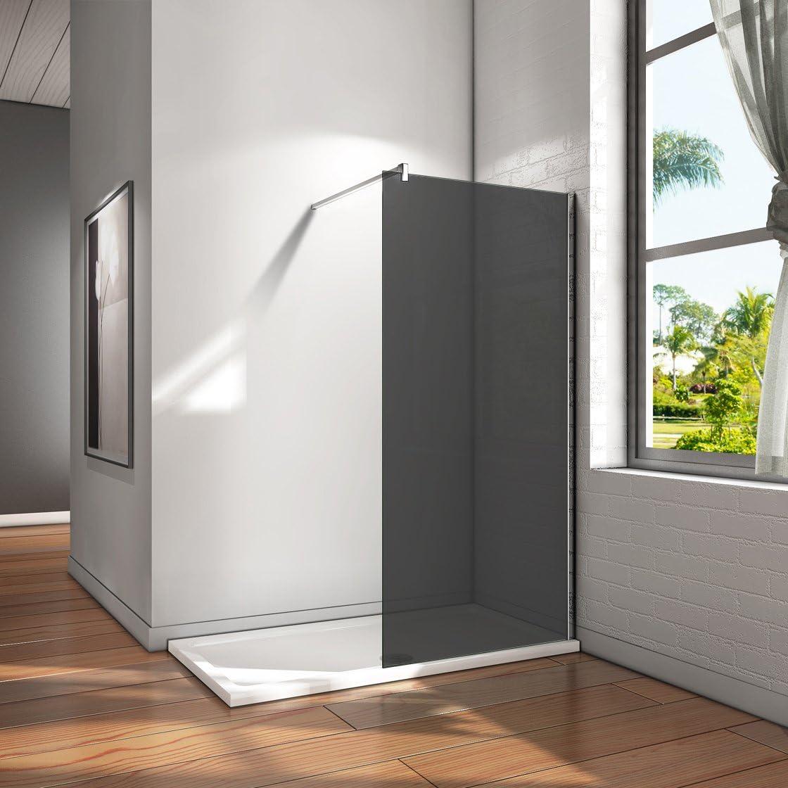 Ducha Pared Walk In ducha Mampara de cristal separador con barra de estabilización: Amazon.es: Bricolaje y herramientas