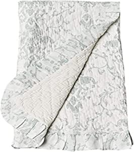 Be-You-tiful Home Rive Ruffled Linen Baby Quilt
