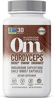 product image for Om Organic Mushroom Nutrition Cordyceps Mushroom Superfood Daily Boost Capsule, 90 Count