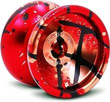 Sidekick Yoyo Pro Splashes Professional Aluminum UNresponsive YoYo (Red / Black / Gold)