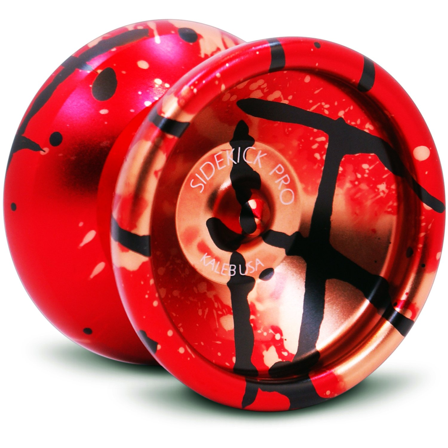 Sidekick Yoyo Pro Red Black Gold Splashes Professional Aluminum UNresponsive 7S YoYo by Sidekick Yoyo