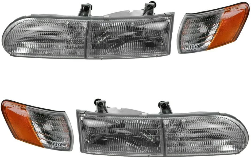 Replacement Front Headlights with Bulbs Gulf Stream Yellowstone 2003-2006 RV Motorhome Pair Left /& Right