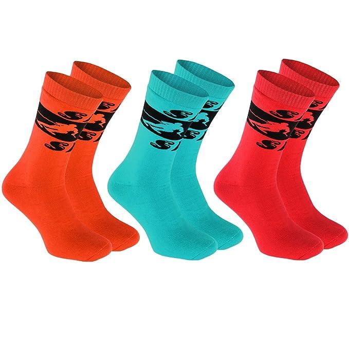 3 pares de Calcetines Frotte Ski, tamaños 42-44 COLOR los Deportes de Invierno