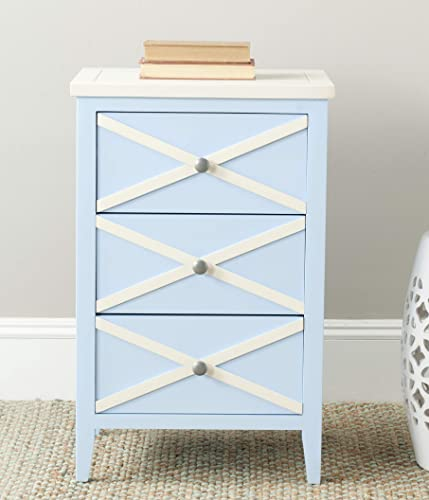 Safavieh American Homes Collection Sherrilyn Light Blue 3-Drawer Side Table
