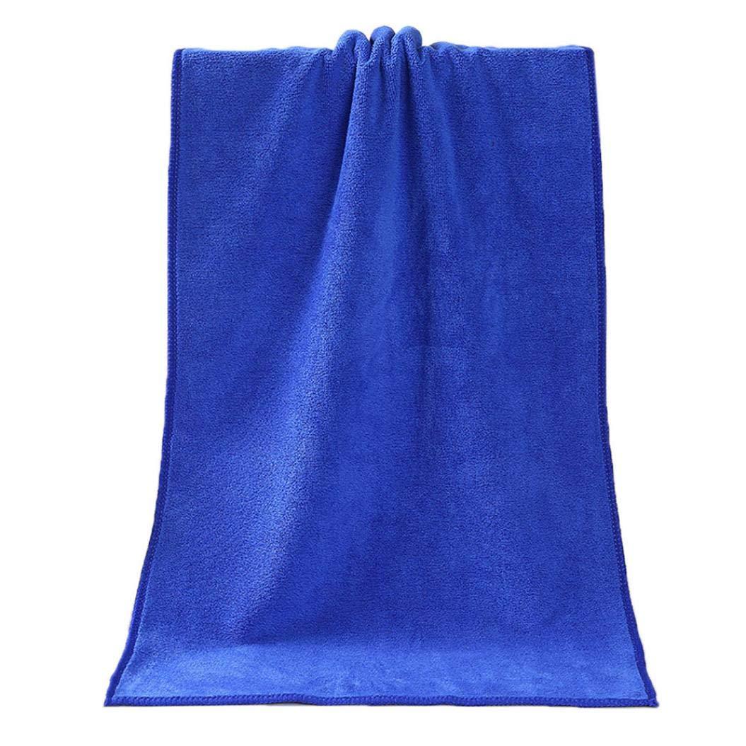 Soft Comfortable Bath Towel,Bathing Shower Absorbent Superfine Fiber Towels (Blue)