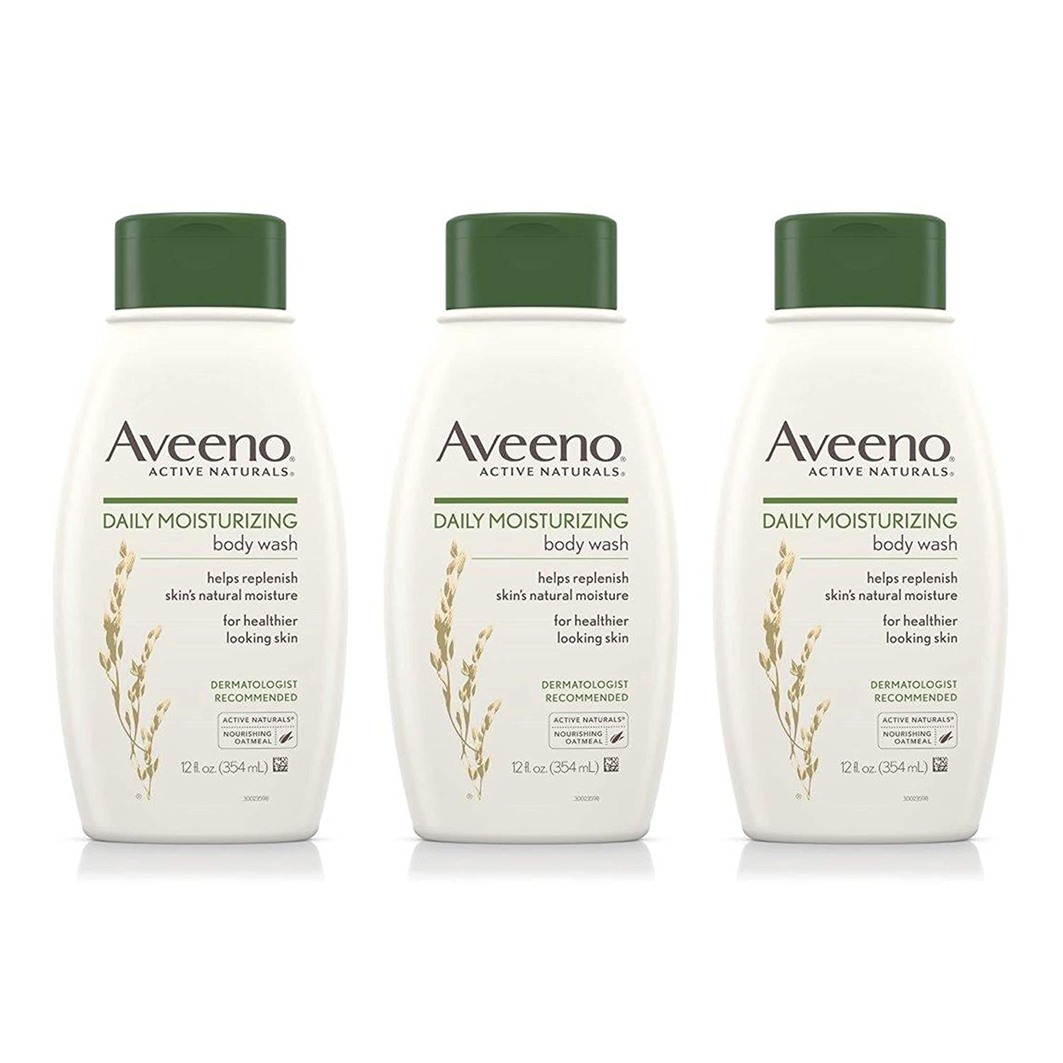 Aveeno Daily Moisturizing Body Wash, 12 Fl. Oz (Pack of 3) U-BB-1206