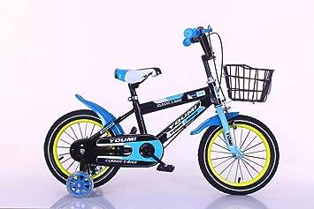 YoYodress Bicicletas infantiles Bicicleta para niños con ruedas de apoyo De 2 a 8 años (12 de 14 a 16 pulgadas) (Azul, 12): Amazon.es: Deportes y aire libre