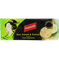 Fantastic Rice Crackers Sour Cream & Chives, 100 g