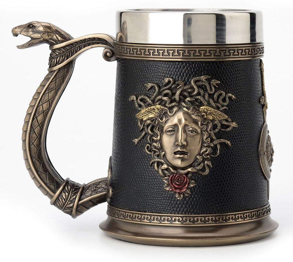 Veronese Outlet ☆ Free Shipping Design 5.75 Inch National uniform free shipping Greek Medusa Beer Goddess Roman Stein