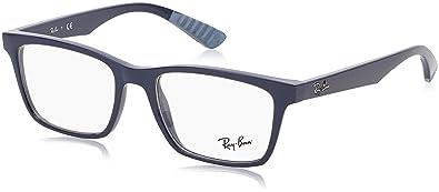 1e65a1075cb2c Amazon.com  Ray Ban RX7019 Light Ray Eyeglasses-5242 Demi Shiny Blue ...