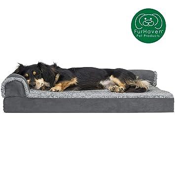 Amazon.com: furhaven Deluxe ortopédica Chaise perro sofá ...