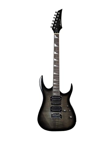 039ebbcd275 Vault RG1RW Soloist Electric Guitar - Black  Amazon.in  Musical Instruments