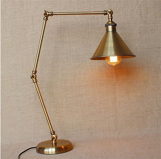 GS ~ LY lámpara de mesa industrial de bronce de máquinas de viento largo brazo ajustable