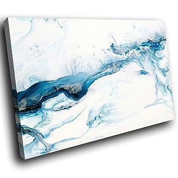 AB1744C Gerahmte Leinwanddruck Bunte Wand Kunst   Blau Schwarz Weiß Grau    Moderne Abstrakte Wohnzimmer