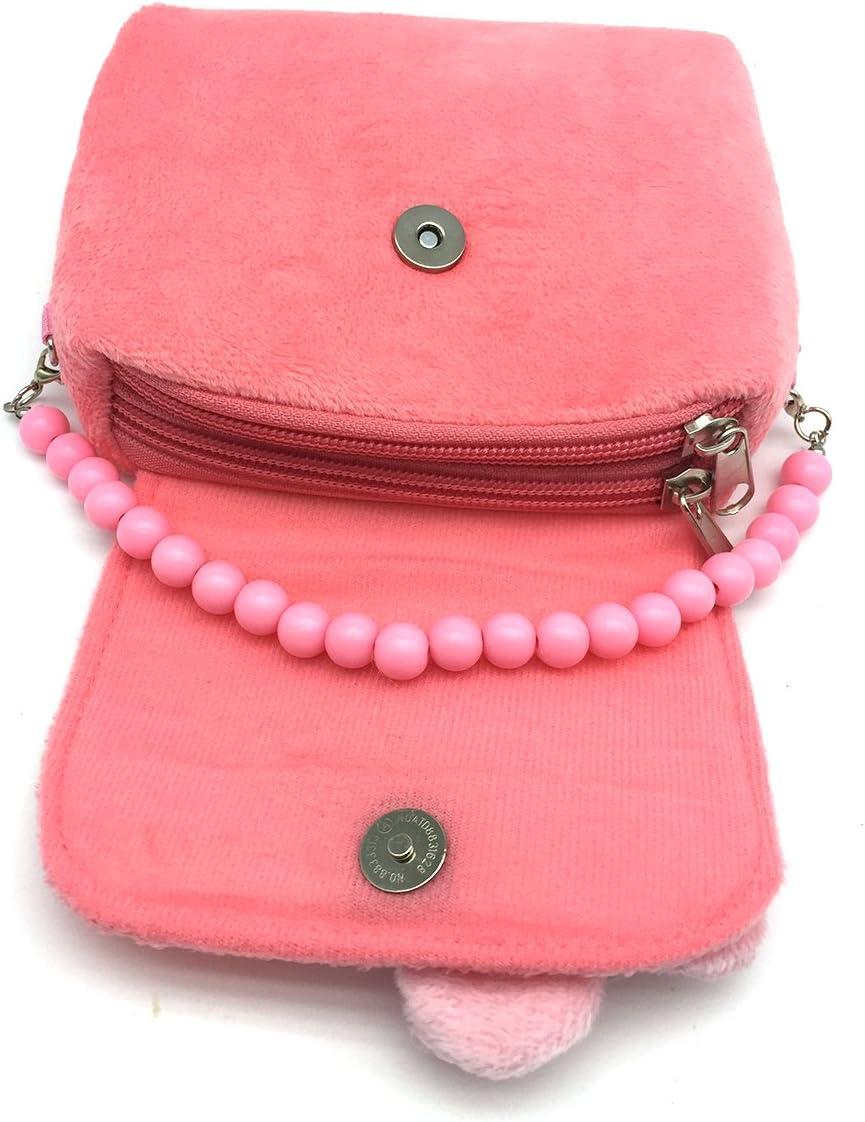 Necklace and Bracelet Set Blue Flower-Shaped Clip-on Earrings Rings Hair Clips and Hair Ties Elesa Miracle Little Girl Handbag Beauty Set Kids Plush Handbag