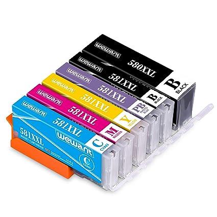 Wewant 580XXL 581XXL Cartuchos de tinta Compatibles ...