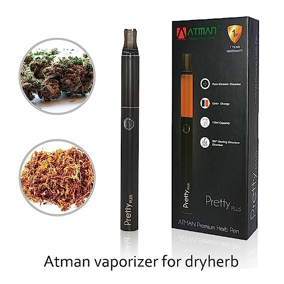 vaporizador,Atman® Prettyplus vaporizador elecontronico vaporizador hierba de vapor con cámara de cerámica con estructura de calentamiento de 360°cigarrillo ...
