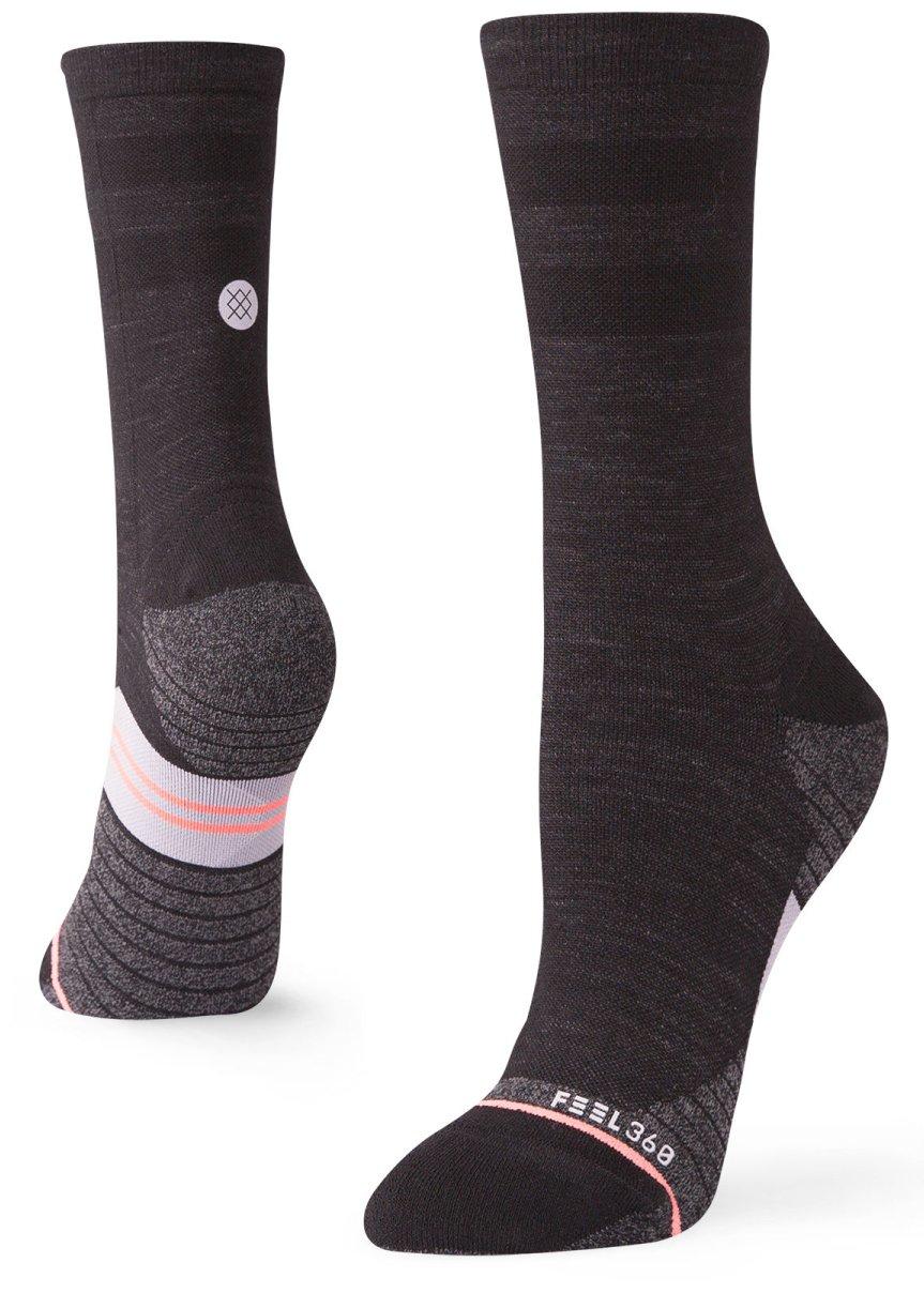 Stance Womens Run Uncommon Solid Wool Crew Socks (Black, Medium)