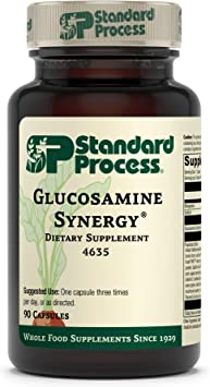 Standard Process Glucosamine Synergy - Whole Food RNA Supplement and Joint Support with Cyanocobalamin, Cholecalciferol, Shiitake, Manganese, Rice Bran, Organic Carrots - 90 Capsules