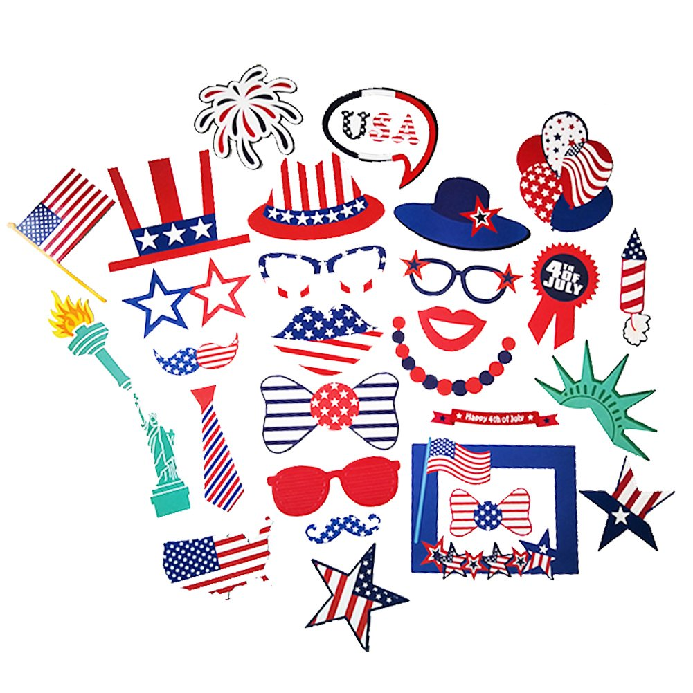 Amazoncom 29pcs 4th Of July Party Props Memorial Dayveterans Day